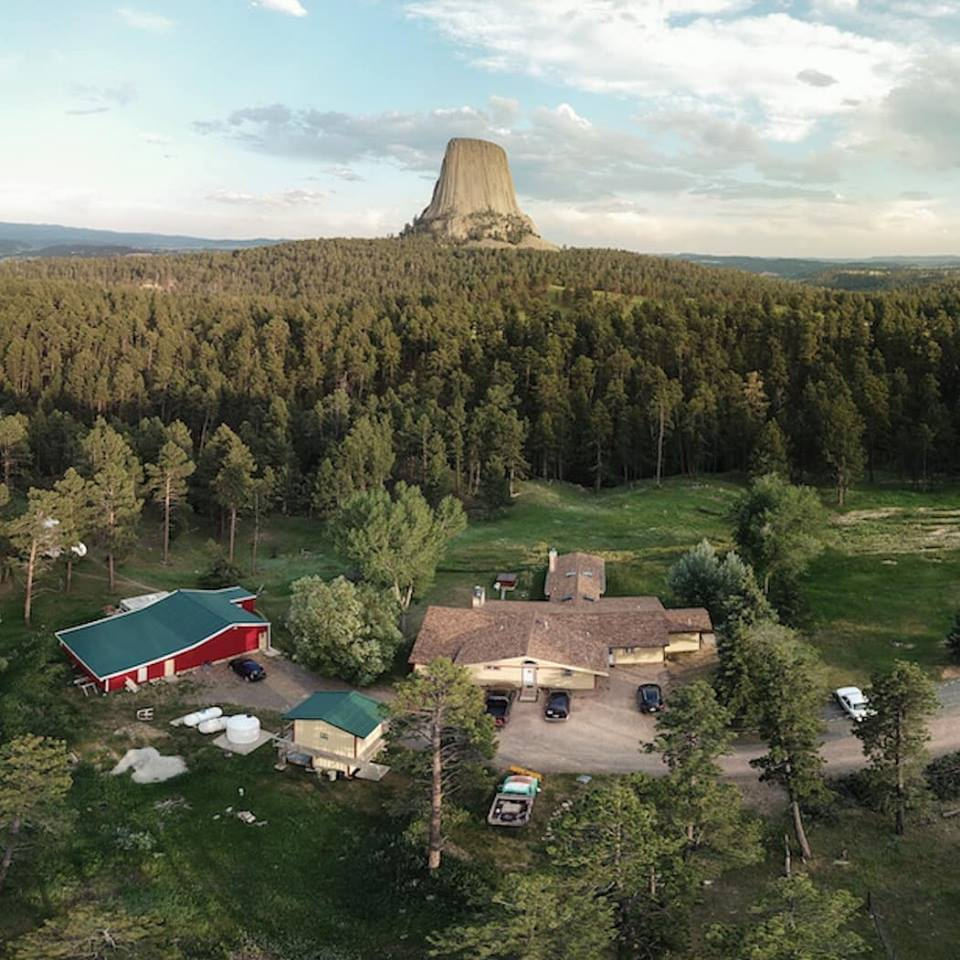 Devils Tower Lodge, at the base of Devils Tower