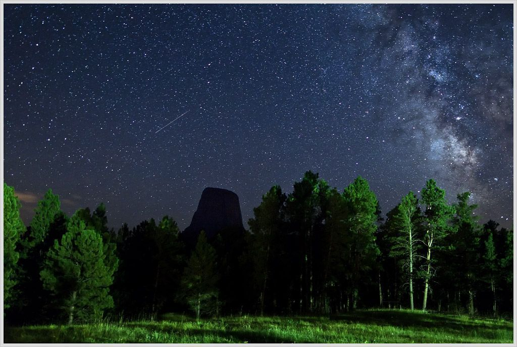 Starry Sky over Devils Tower