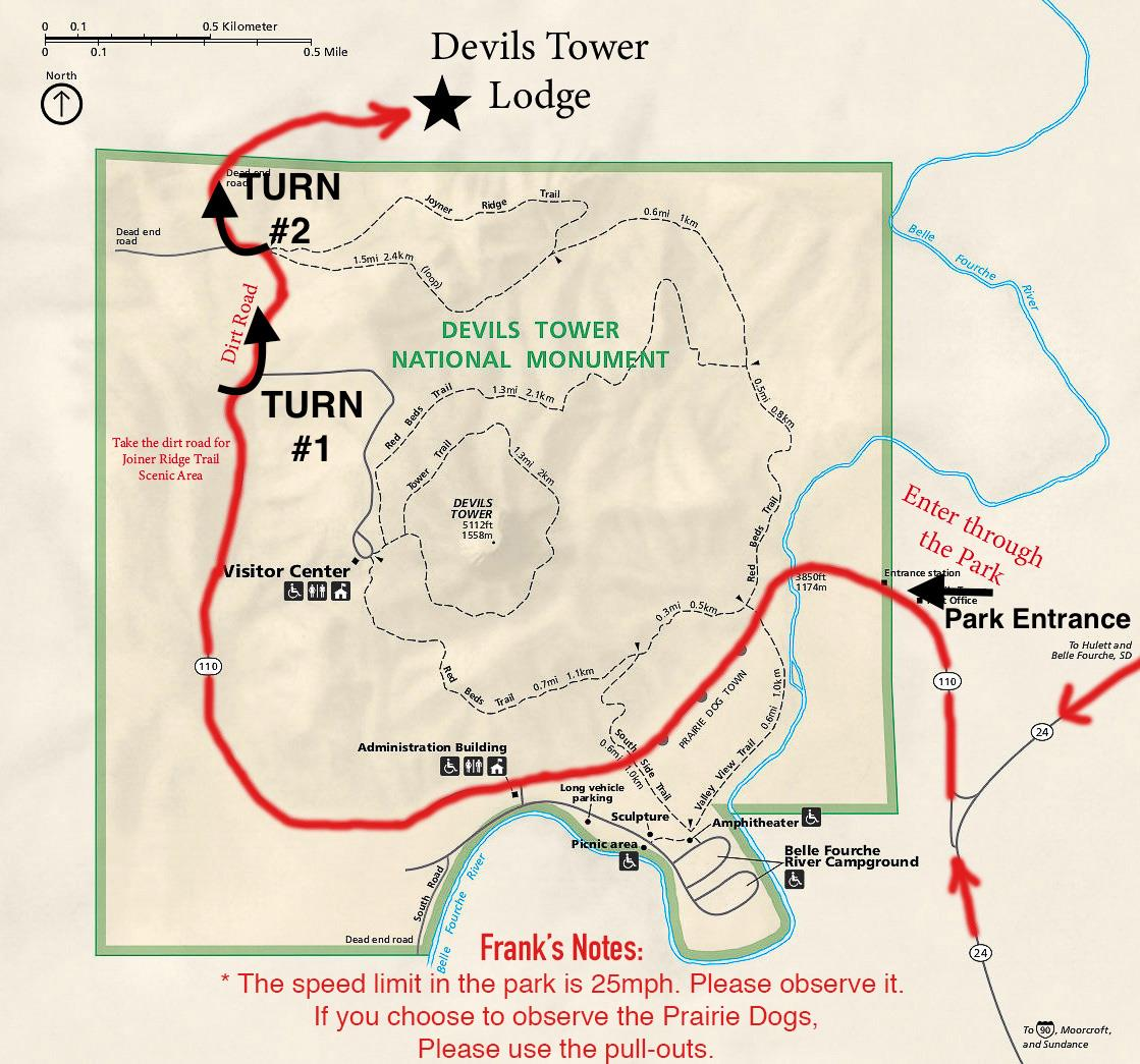Devils Tower Lodge Map