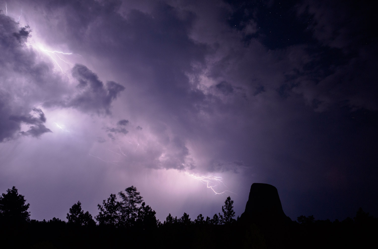 Storm over Devils Tower